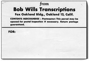 Bob-Wills-Transcription-Addresse-Label